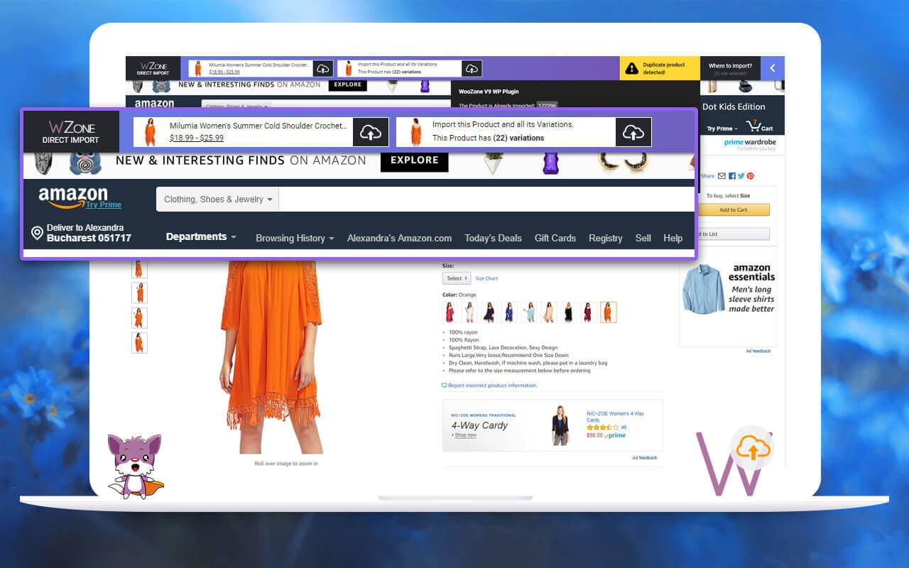 WZone Direct Import – WooCommerce Amazon Affiliates – WZone